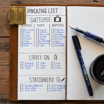 travelers notebook list making