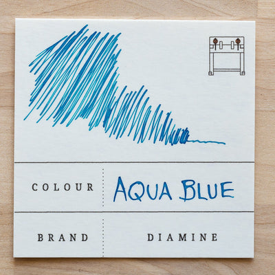 Diamine Aqua Blue fountain pen ink