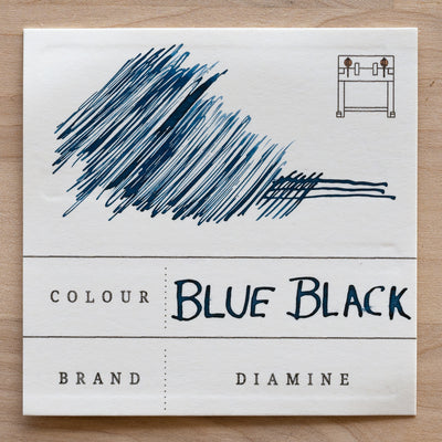 Diamine blue black fountain pen ink swatch