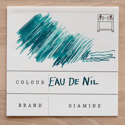 Diamine Eau de Nil Fountain Pen Ink Swatch