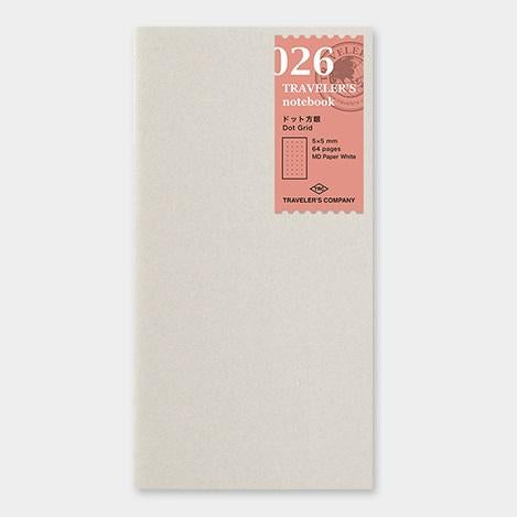 travelers notebook 026 Refill Dot Grid Regular Size