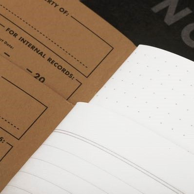 Dot Grid and Plain Lined Field Notes Pitch Black