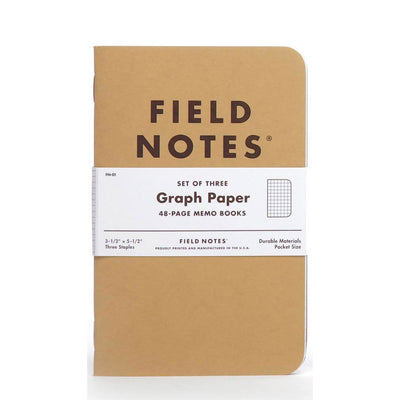 Field Notes Graph Paper - Pack of 3