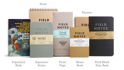 Field Notes range Bookbinders, Brisbane, Australia