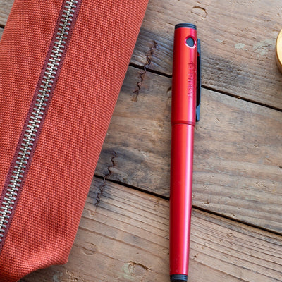 bellroy red ochre pencil case
