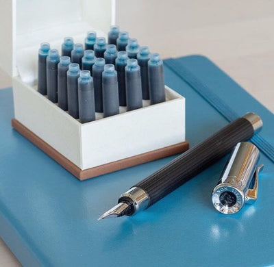 Graf von Faber-Castell Turquoise - Box of 20 - International Standard Ink Cartridges