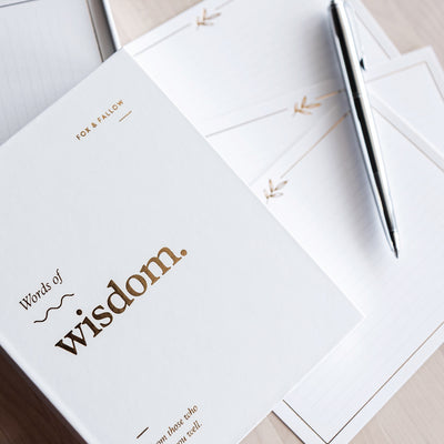 Words Of Wisdom Lined Note Cards