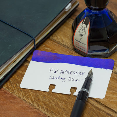akkerman shocking blue fountain pen ink