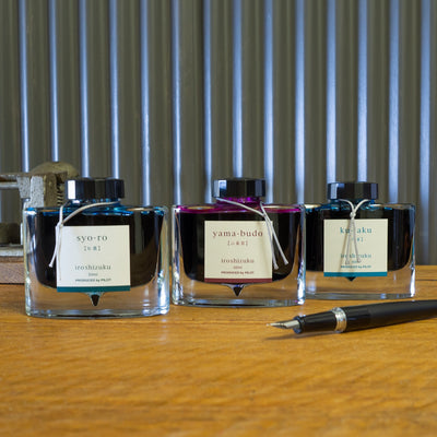 pilot iroshizuku ku-jaku fountain pen ink