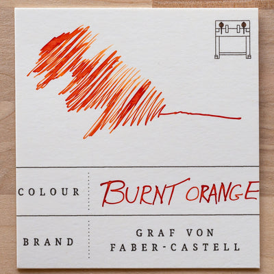 burned orange ink swatch graf von faber-castell