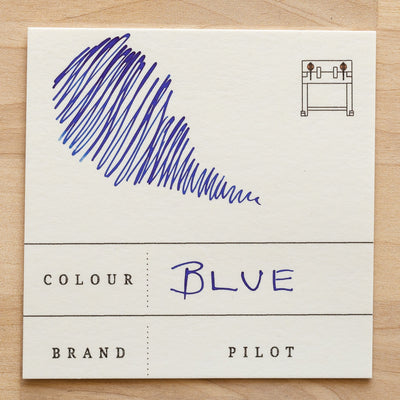 pilot blue fountain pen ink swatch