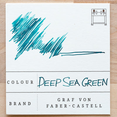 deep sea green ink swatch graf von faber-castell