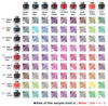 Platinum Mixable Ink Colour Chart