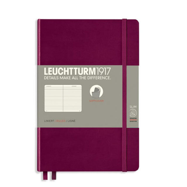Leuchtturm Notebook B6+ Port Red Soft Cover Lined