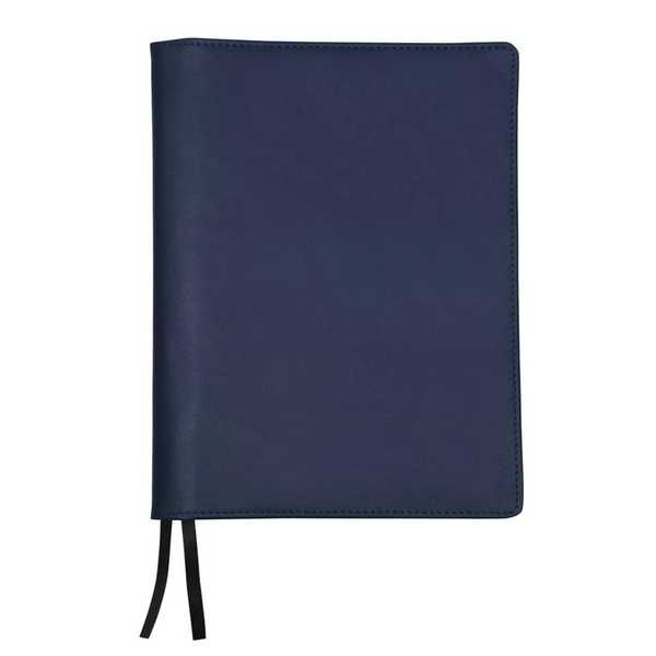 Leather Notebook Cover + Apica Notebook A5 - Navy Blue