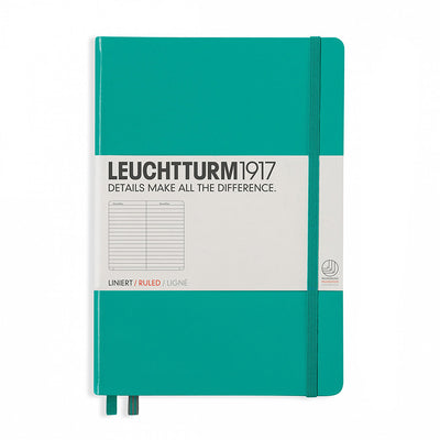 leuchtturm Notebook A5 - Emerald - Ruled Lines