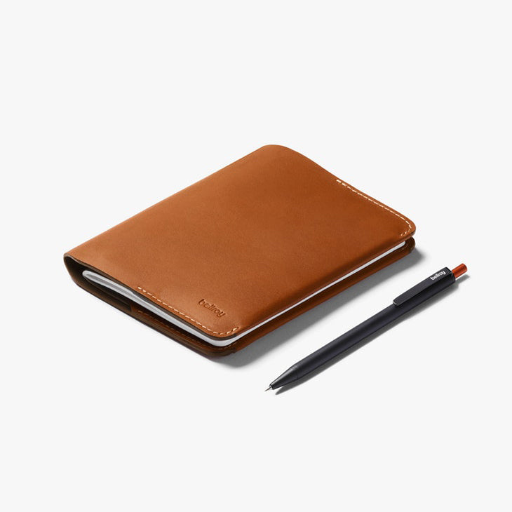Bellroy Notebook Cover Mini - Field Notes Size - Caramel + Notetaker Pen