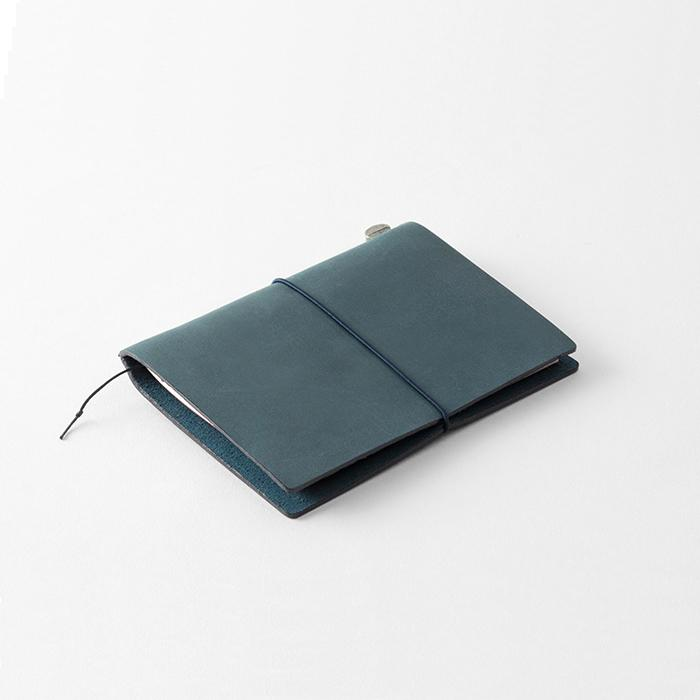 TRAVELER'S Leather Notebook Starter Kit - Blue - Passport