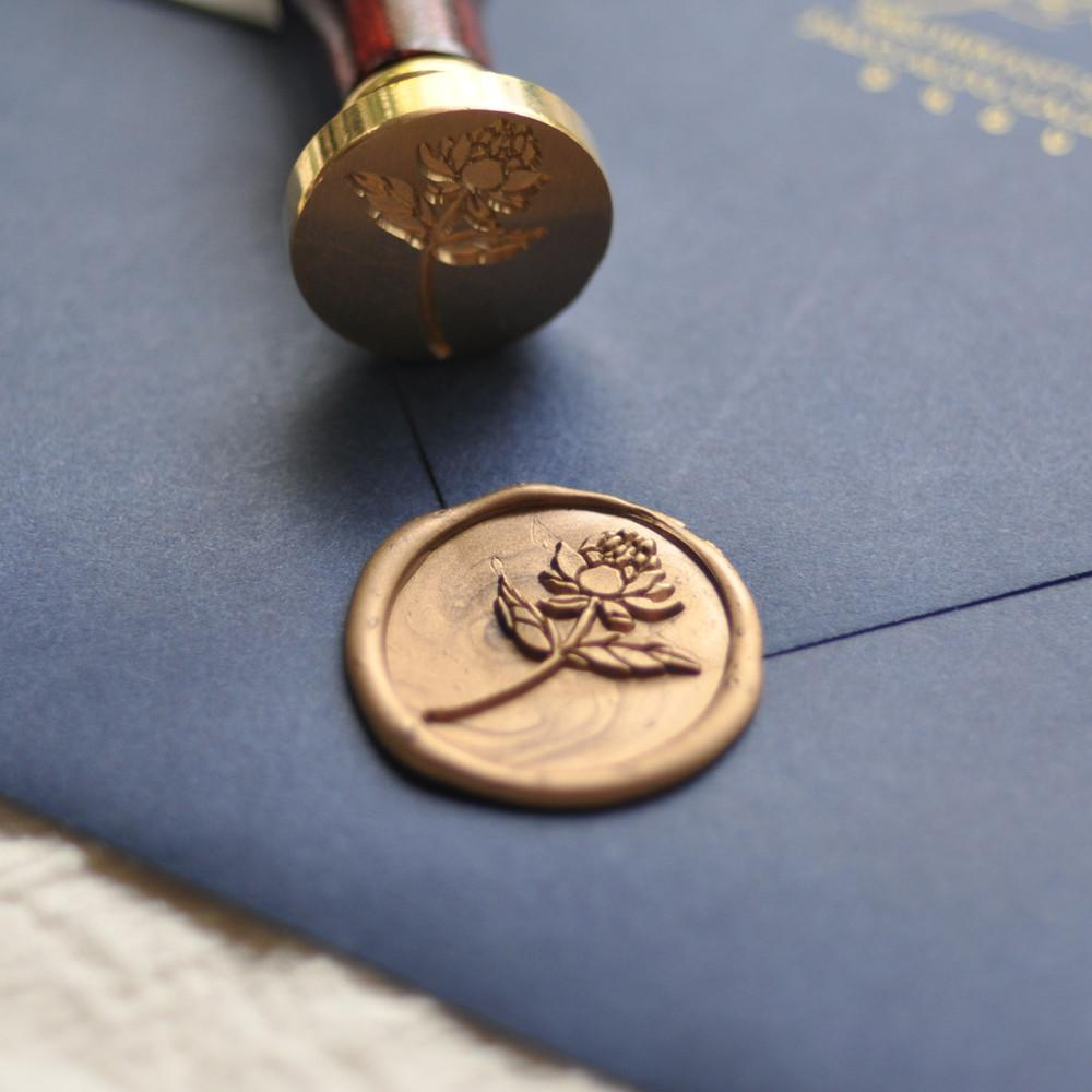 Wax Seal - Peony - Stamptitude