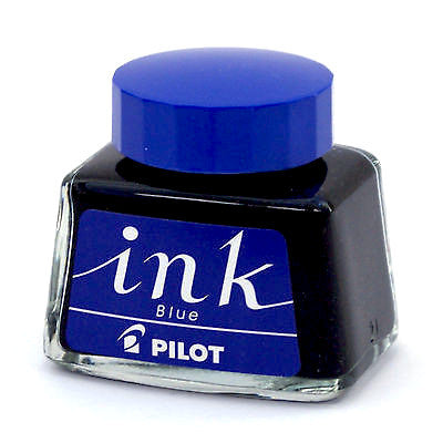 Pilot 30 ml bottled fountain pen ink - Blue