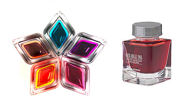 Platinum mixable ink flame red