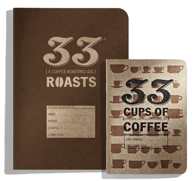 33 coffee roasts notebook size comparison