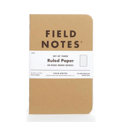 Field Notes Ruled Paper - Pack of 3