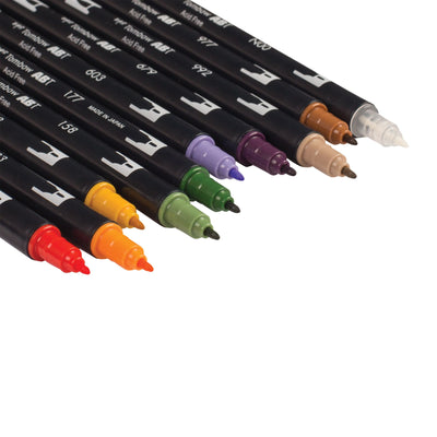 Tombow Dual Brush Pen Set of 10 - Secondary Palette