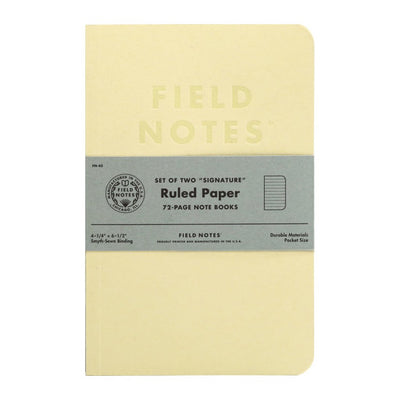 field notes signature ruled lines