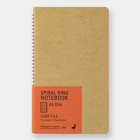 Spiral Ring Notebook - Card File - A5 Slim