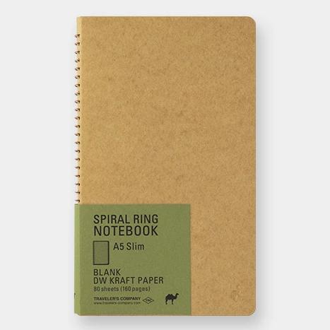 Spiral Ring Notebook - Kraft Paper - A5 Slim