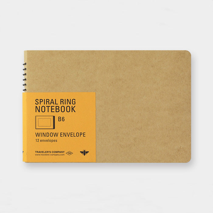 Spiral Ring Notebook - Window Envelope - B6