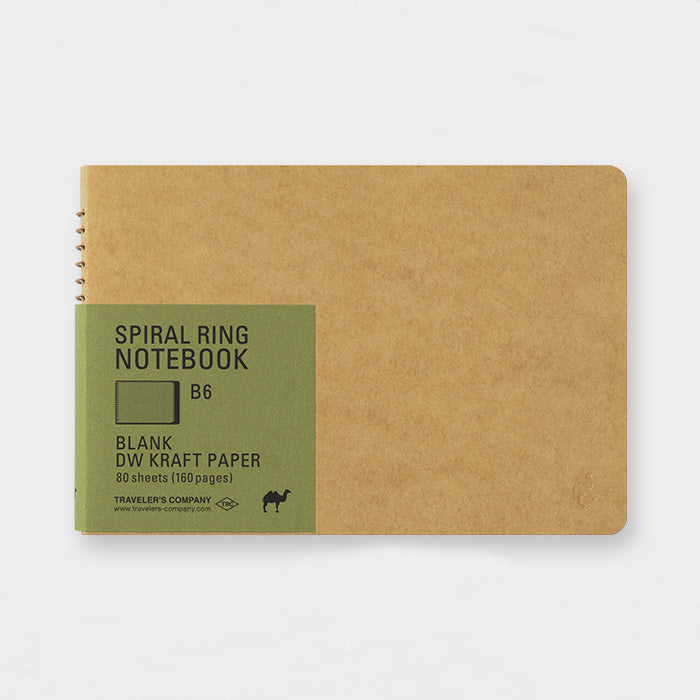Spiral Ring Notebook - Kraft Paper - B6
