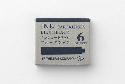 blue black ink cartridges for travelers pen