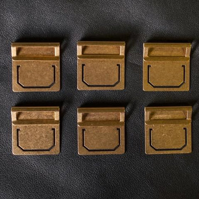 Travelers Company Brass Index Clips set of 6