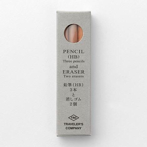 travelers company brass pencil and eraser refills