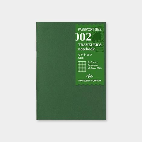 002 Refill Grid - Passport Size travelers notebook insert