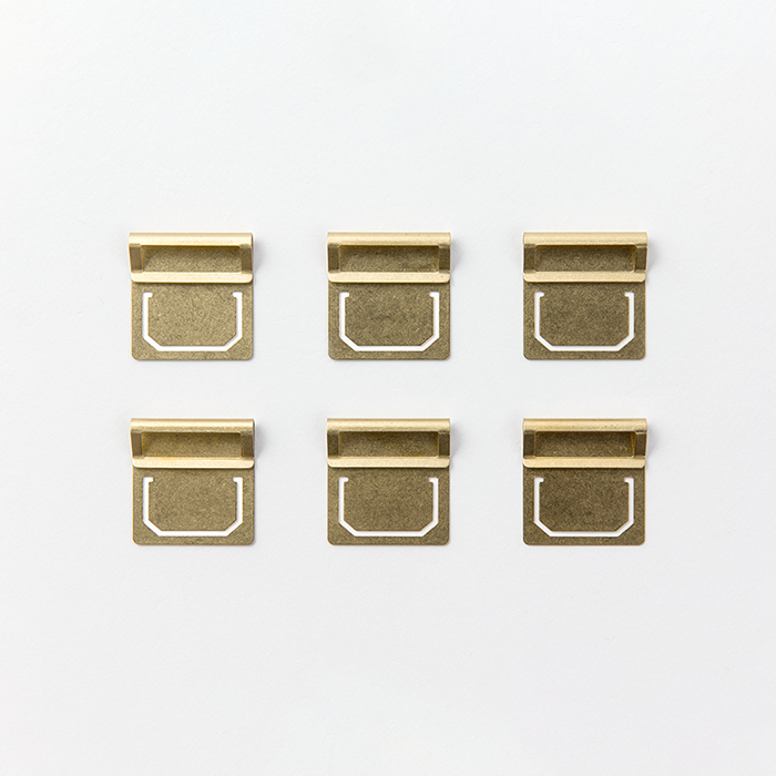 Brass Index Clips (set of 6)