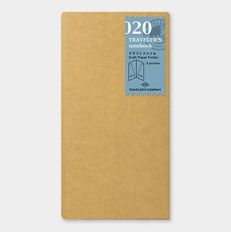 Travelers Notebook 020 Refill Kraft File Regular