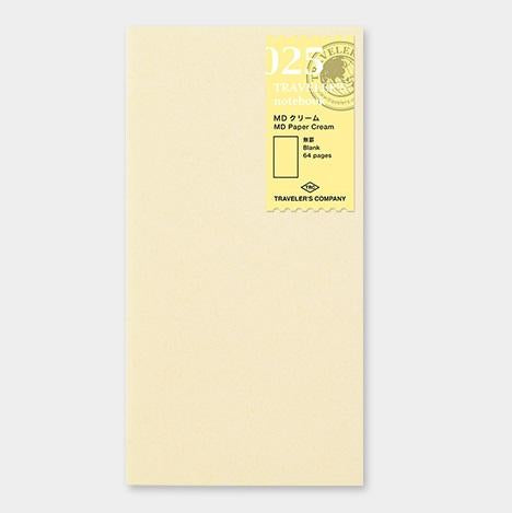 travelers notebook 025 Refill Cream Paper Blank Regular Size