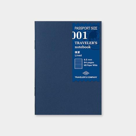 001 passport travelers insert refill