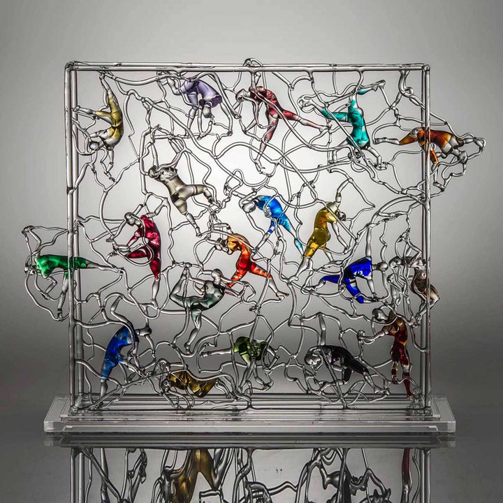 Aquarium Multi, Soft glass flamework sculpture by Bonaventura Mauro - Fp Art Online