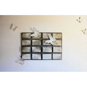 Butterfly, Concrete and relief wall sculpture by Bruni Francesco - Fp Art Online