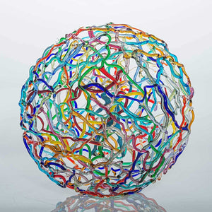 Biosphere Multi, Soft glass flamework sculpture by Bonaventura Mauro - Fp Art Online