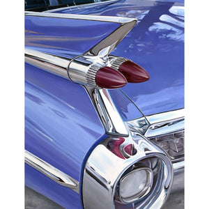 Blue Back Caddy, Oil paint on canvas by Mini Daniele - Fp Art Online