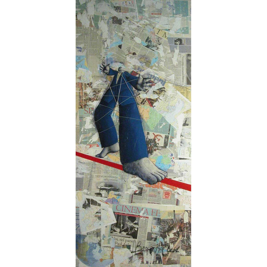 Senza Titolo 2, Oil and collage on canvas by Bonavita Alfonso - Fp Art Online