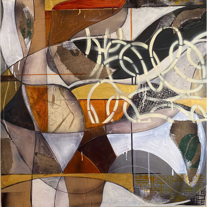 Banadiir 3, Mixed media on board by Briata Raimondo - Fp Art Online