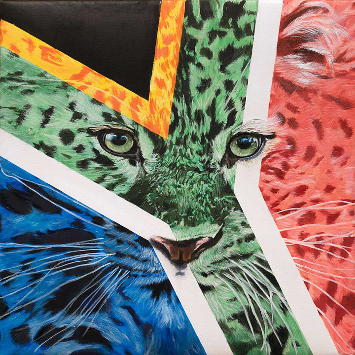 Celebrating Diversity 15, Oil painting on canvas by Chiusano Carla - Fp Art Online