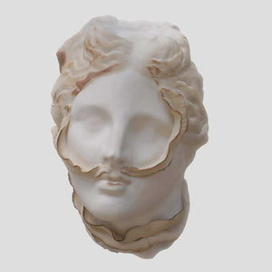 Come Tu Mi Vuoi #2, Porcelain sculpture, moulding for the face and manual for leaf elements by Amedeo Annalia - Fp Art Online
