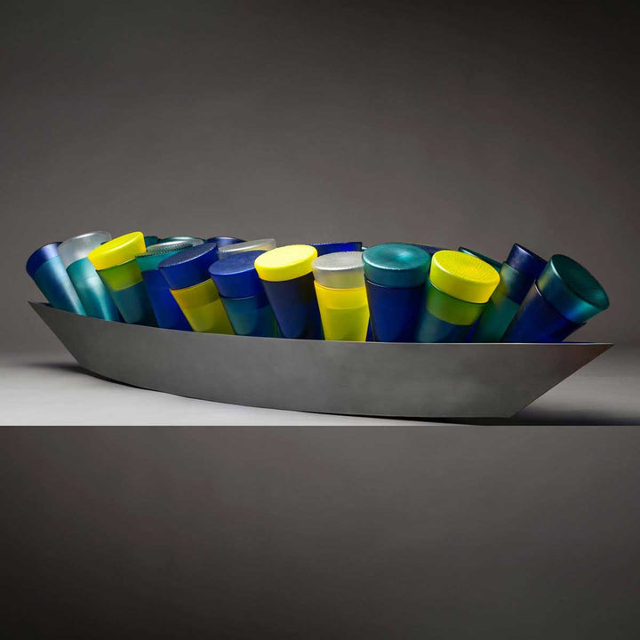 Cornucopia, Free blown sculpture by Baldwin and Guggisberg - Fp Art Online